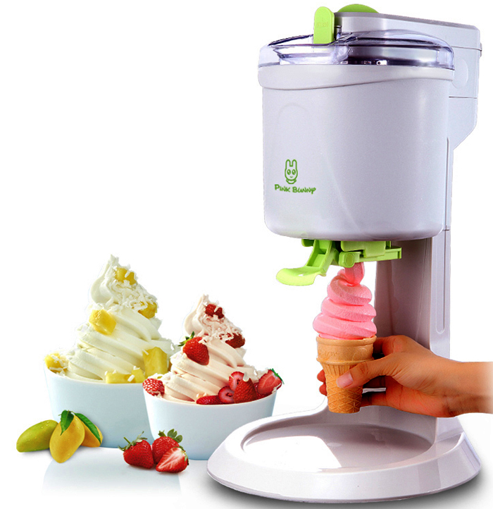 Fully Automatic Mini Fruit Ice Cream Maker for Home with 1L capacity and Unique Star Mold to make Delicious Fruit and Milk Ice Cream