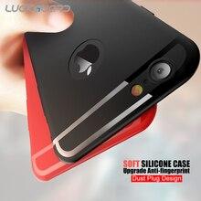 LuckGuard силиконовый чехол для телефона для iPhone XS Max Xr X Ультра тонкая мягкая задняя крышка для iPhone 7 8 6 6s Plus TPU чехол Coque Funda