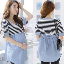 2016 New Women font b Maternity b font Blouses Shirt Striped Nursing Top Blouse Shirts Breastfeeding