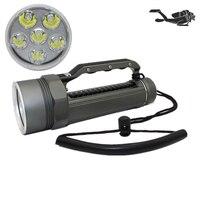 Powerful 6 XM L2 Waterproof Dive Light Underwater 6000 Lumen Tactical LED Diving Flashlight 26650 Torch