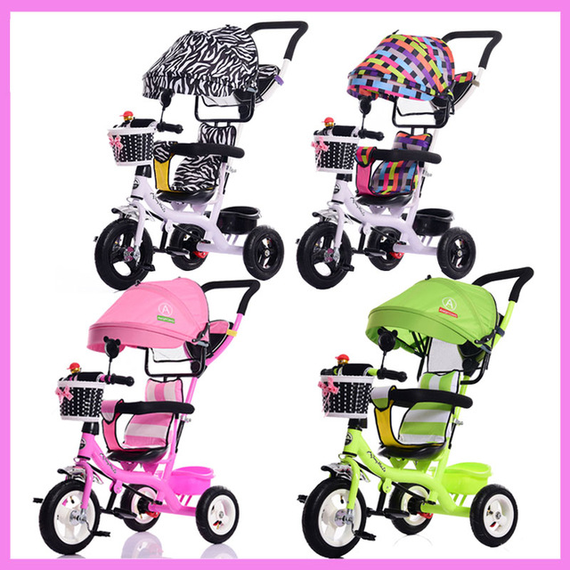 Portable Baby Toddle Child Tricycle Bike Trolley Stroller Removable To Wash Transformer Tricycle Pushchair Pram Bicycle 12M~6Y baby stroller pram bb rubber wheel inflatable tires child tricycle infant stroller baby bike 1 6 years old bicycle baby car