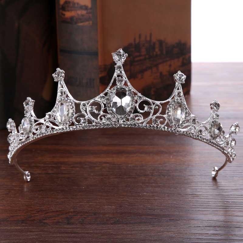 Bride Crown Headdress Luxury Crystal Ornaments Princess Crown Wedding Dress Studio Accessories SL