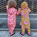 2017 Primavera Outono Macacão de Algodão Recém-nascidos Bebês Crianças Batatas Fritas Coração Romper Criança Subir Roupas Macacão Roupa das Crianças