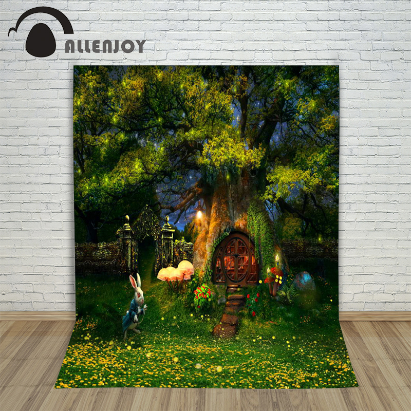 5ftx7ft Green Forest Photography Backdrop Alice Wonderland Cartoon