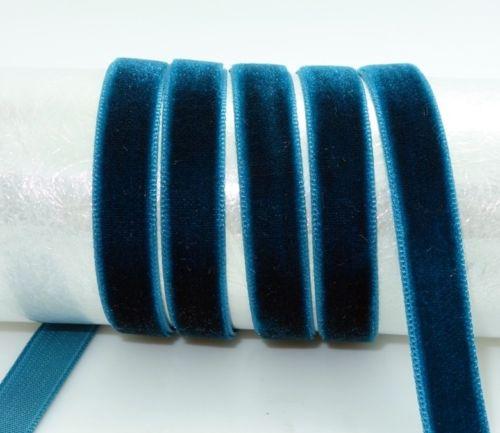 """DIY 5 ярдов 3/"""" 10 мм мягкая удобная бархатная лента много цветов на выбор - Цвет: navy"""