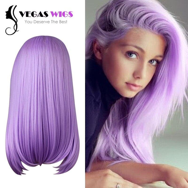 Vegaswigs Summer Pastel Ombre Wig Bright Light Purple Wig