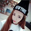NEW YORK letter embroidery wool skullies cap winter warm knit cap men and women influx of people wild hat MZ-12#