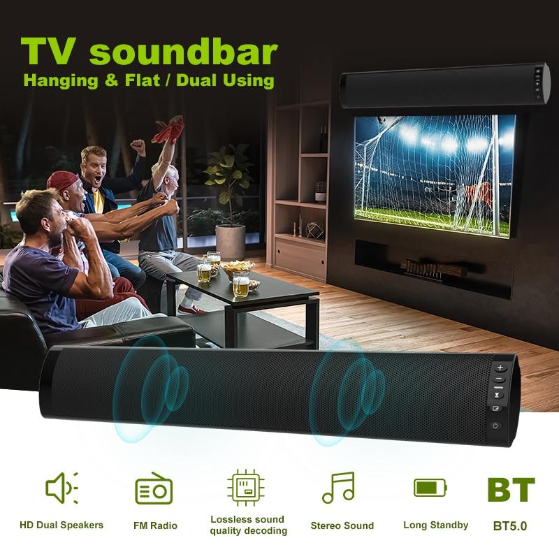 2019 haut-parleurs Audio de basse forte filaire et sans fil Bluetooth 5.0 barres de son pour TV Audio basse et HIFI Support de puce 3.5mm - 3