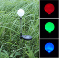 Hot selling colour changing solar ball lawn lights LED decoration solar garden light free shipping