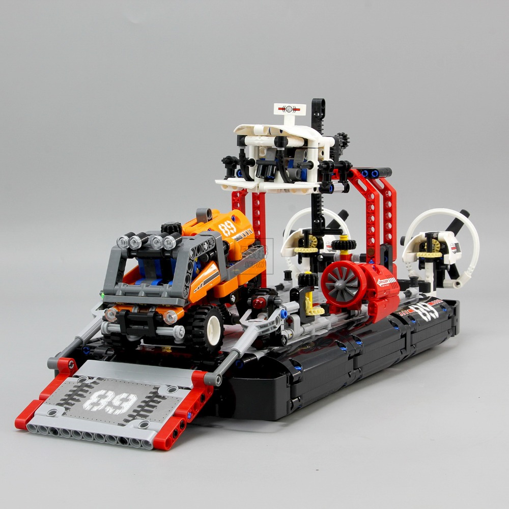 Lepin 20078 New 1101Pcs Technic Series The Hovercraft Set Compatible 42076 Model Building Blocks Bricks Toys For Kids As Gifts