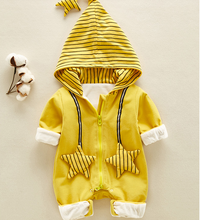 Spring Newborn Baby Rompers Long Sleeve Hooded Zipper Desgin Infant Crawling Jumpsuit Cotten Striped Crawling Kids Clothes Z765 crawling the website deeply deep page crawling