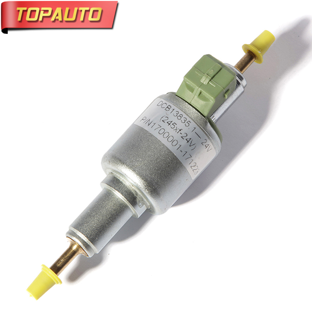 TopAuto 12v 24v Fuel Dosing Pump 65ml Electronic Pulse Metering Pump For Webasto Car Air Diesel Parking Heater For Truck electronic fuel pump hep 02a 12v 24v car modification gas diesel low pressure petrol for motorcycle toyota ford yanmar nissan