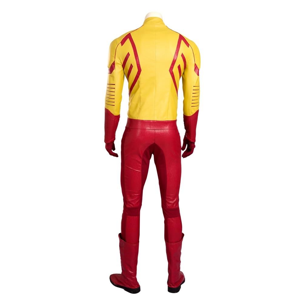 Super héros Flash Costume avec masque Halloween enfant Flash Cosplay Costume pour hommes ensemble complet avec des bottes - 2