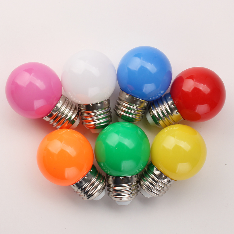 20 Psc/Lot E27 <font><b>LED</b></font> Coloful Lamp <font><b>Led</b></font> Bulb For chandelier New Year Christmas Decoration SMD <font><b>2835</b></font> Bombillas 1W 3W Global Lamparas