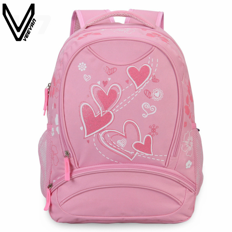 Pink Girls School Bags Students Book Backpacks For Teenagers Canvas Backpack Best Gift For Children