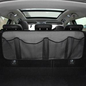 Image 1 - Araba gövde saklama çantası/koltuk asılı çanta, depolama net yüksek kapasiteli/ayakkabı, basketbol ekipmanları çanta net gövde