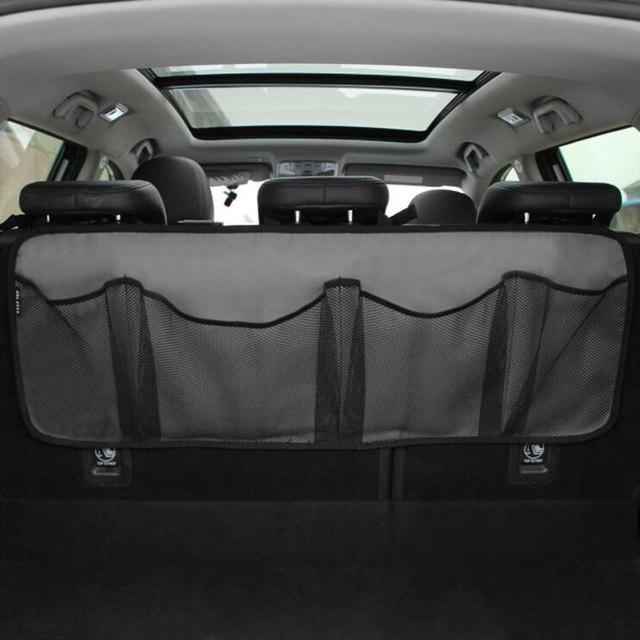 Araba gövde saklama çantası/koltuk asılı çanta, depolama net yüksek kapasiteli/ayakkabı, basketbol ekipmanları çanta net gövde