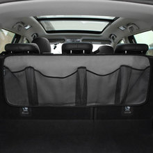 Car trunk storage bag/seat hanging bag, net high capacity/Car shoes, basketball equipment bag in the