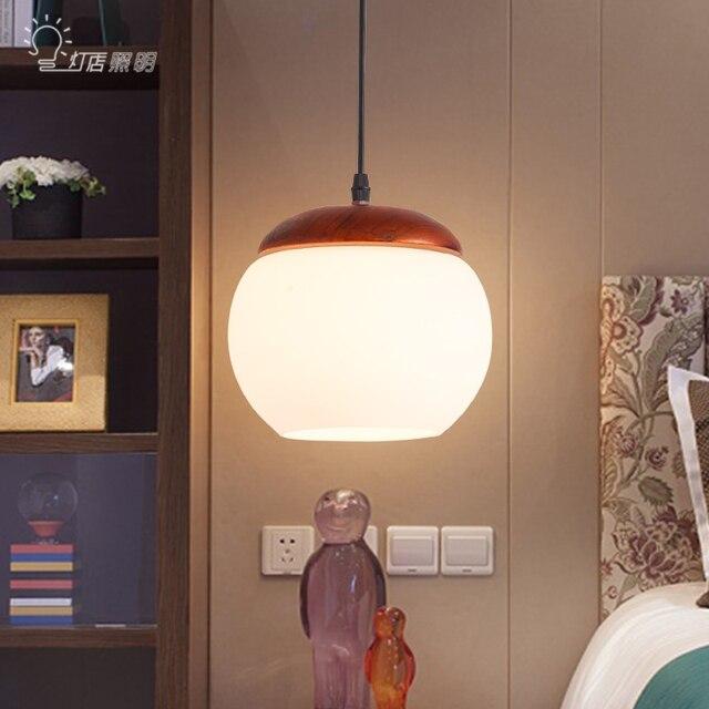 Moderne Holz Esszimmer Pendelleuchte Wohnzimmer Glossen Led Leuchte