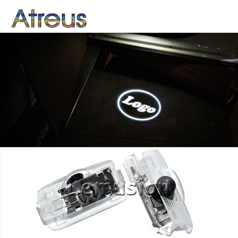 Atreus 2X LED Courtesy Lamp Car Door Welcome Light 12V For Infiniti fx37 f50 g35 g37 qx50 qx70 qx80 q50 q60 q70 ex35 Accessories