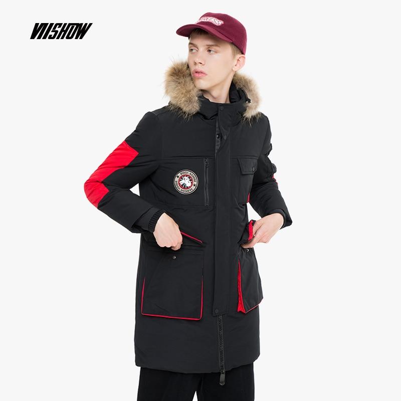 VIISHOW Thick Duck Men's   Down   Jacket Brand Winter Jacket For Men Doudoune Homme 2018 Hooded Men's Winter Jacket   Coat   YCA315184