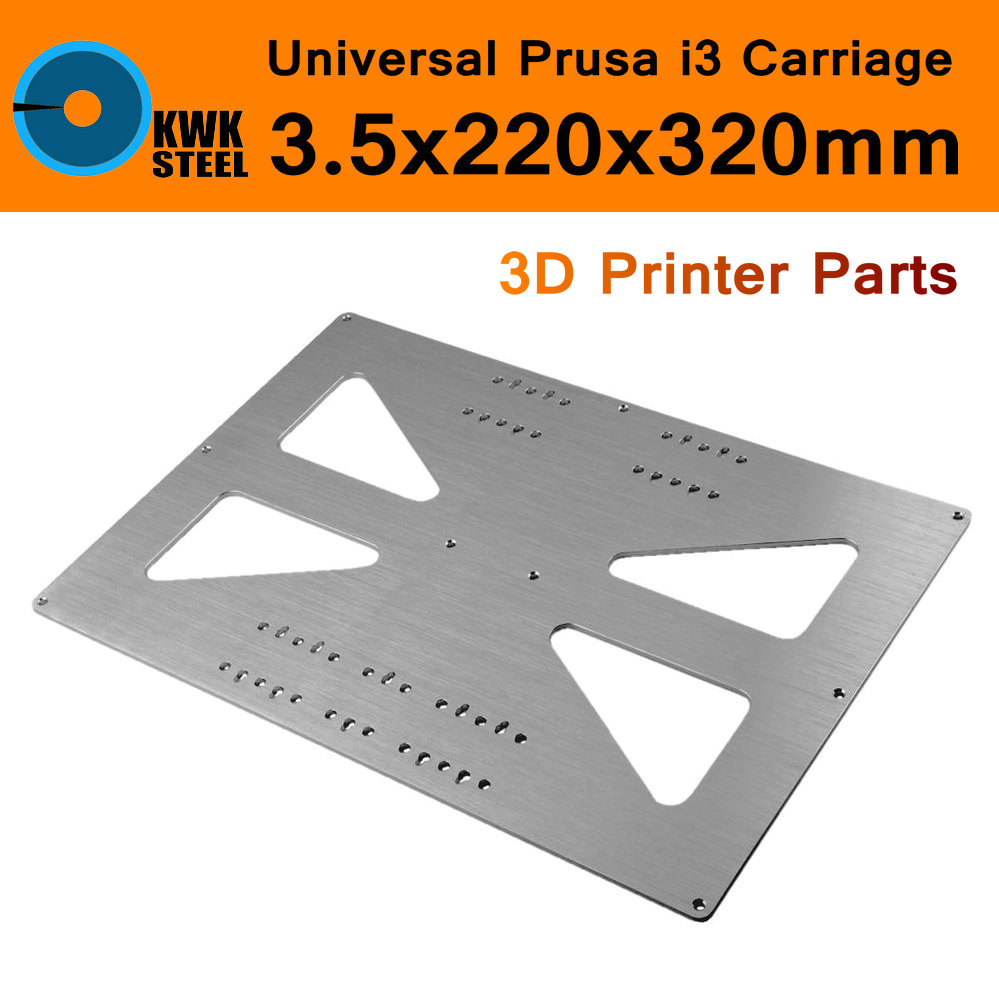 Aluminum Y Carriage Plate 3D Printer Heat Bed Hotbed Ultimaker 2 UM2 3.5x220x320mm AL Anodized Upgrade Plate RepRap Prusa i3 ultimaker 2 extended assemble frame plate for diy 3d printer aluminum composite plate 6mm thickness case housing 350 390 340