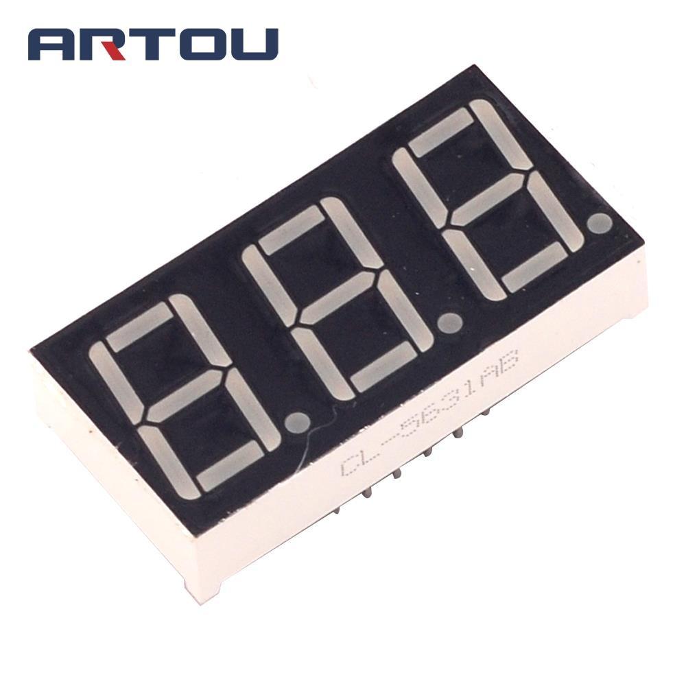 10PCS Common Cathode 3Bit Digital Tube 7 Segment 0.56