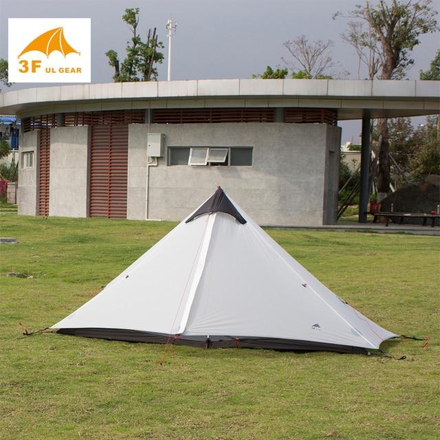 2018 3F UL GEAR 1 Person Oudoor Ultralight Camping Tent 3 Season  Professional 15D Silnylon  Rodless Tent