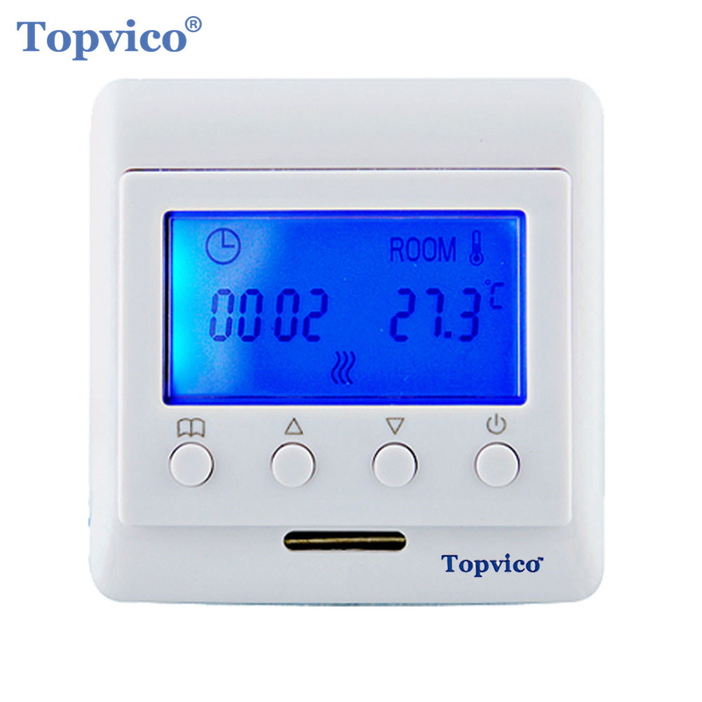 цена на Topvico Z-Wave Plus Thermostat Floor Heating Control Wireless Electric Heating System work Fibaro and Vera Smart Home Automation