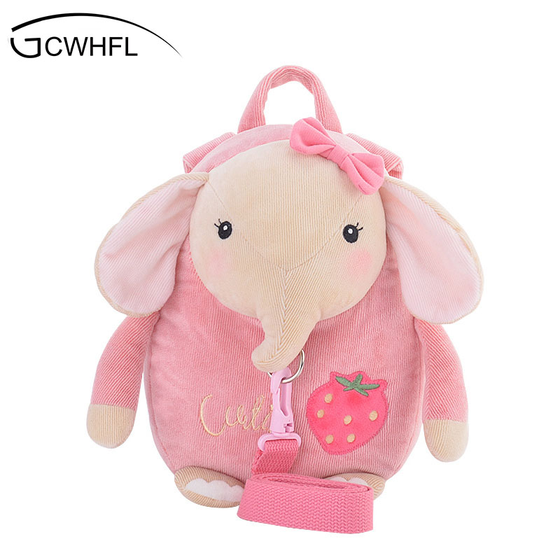Cute Rabbit Anti-lost School Bags For Girls Bunny Plush Toy Baby Girl Backpack Kindergarten Bags Children's Gifts For Age 1-3 super wholesale 160cm plush toy rascal rabbit large bugs bunny girls gifts christmas gift
