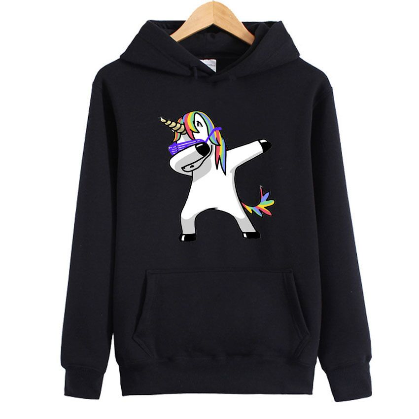 CFYH 2018 New Autumn Winter Kawaii Female Tops Dabbing Unicorn Printing Casual Women S Hoodies Cute