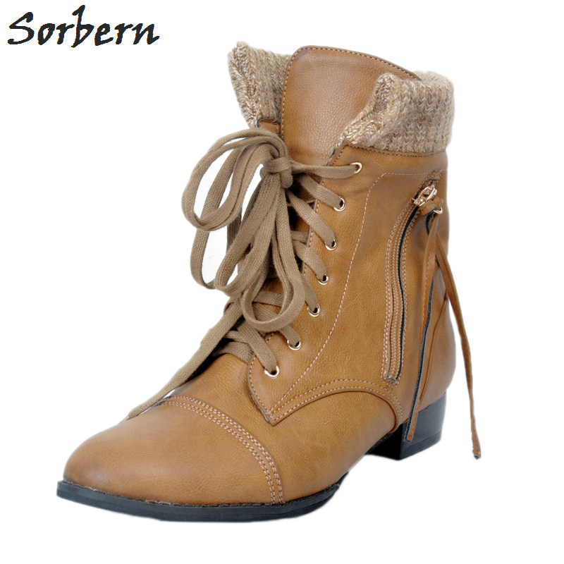 2017 Ankle Boots For Women Plus Size Botines Mujer 34-46 Lace Up Side Zipper Chaussures Femme Bottine Femme Ladies Party Boots2017 Ankle Boots For Women Plus Size Botines Mujer 34-46 Lace Up Side Zipper Chaussures Femme Bottine Femme Ladies Party Boots
