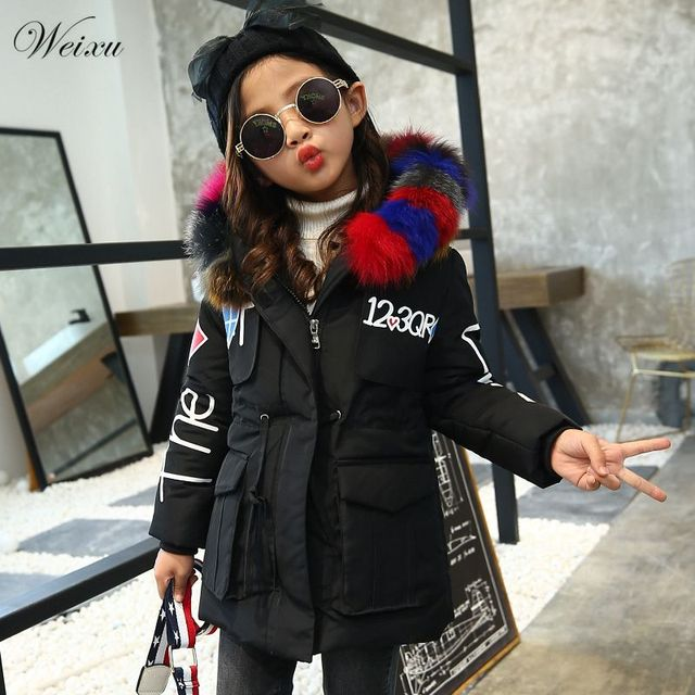68072f80e Weixu toddler girl winter clothes 2018 children black Large color ...