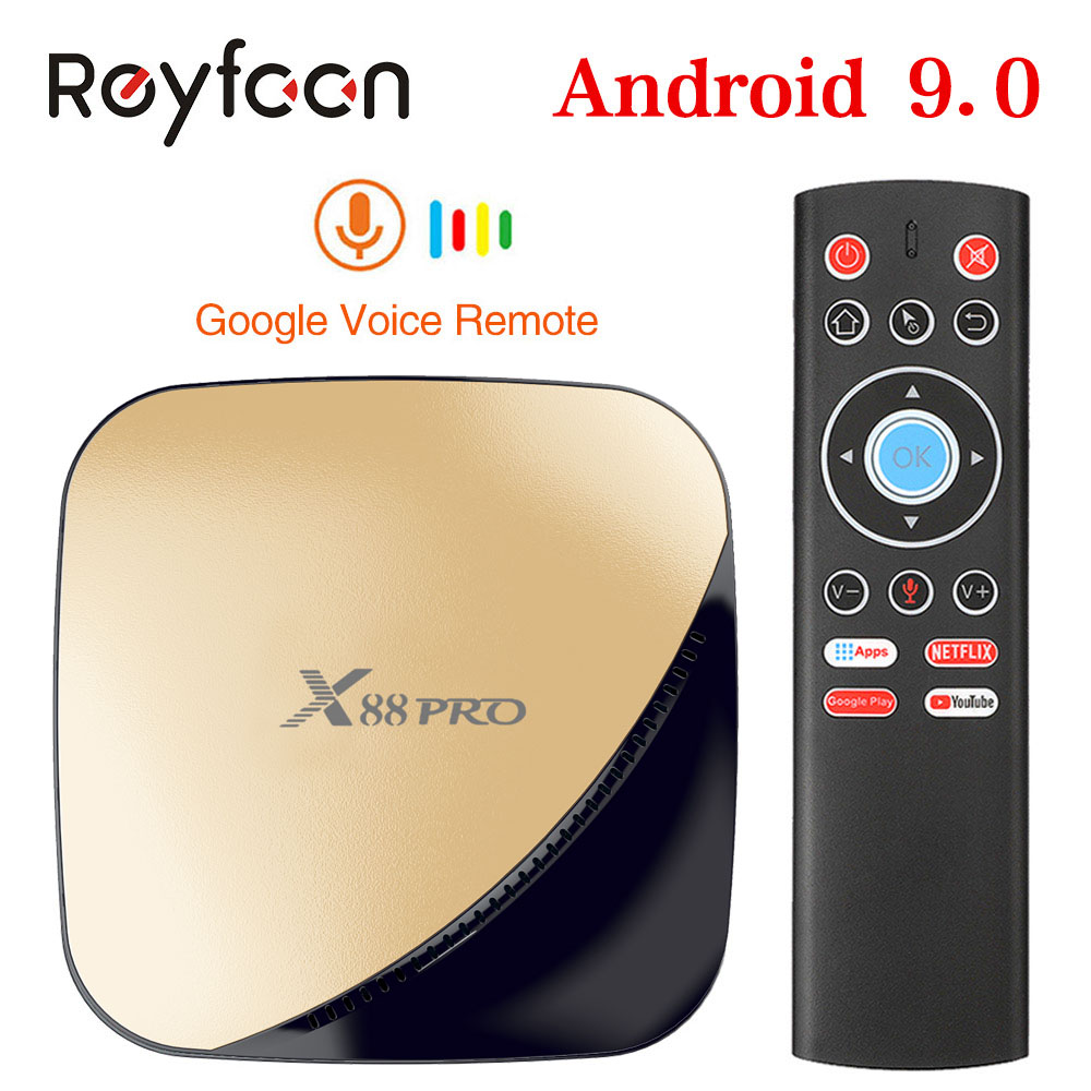 X88 PRO Android 9.0 Smart TV Box 4G RAM 64G Rockchip RK3318 5,8G Wifi 4K 60fps HD set-Top-Box Google Media YouTube 1080P X88PRO