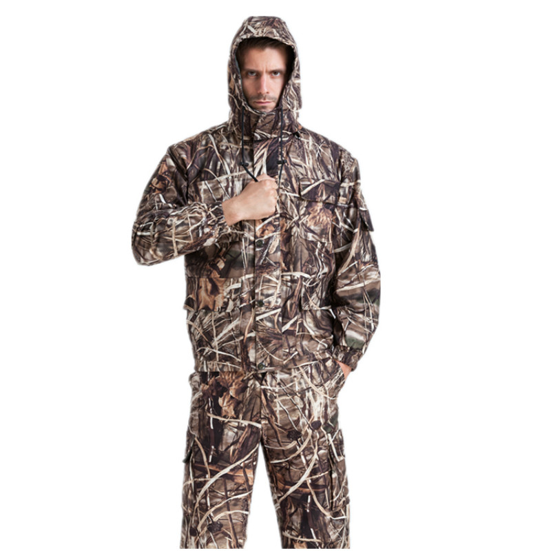 New In autumn winter reed bulrush camouflage hunting outdoor bionic clothing suit tactical clothes jacket and