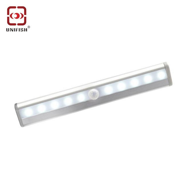 Portable Wireless Motion Sensor Led Light Stick On 10 Lamp Cabinet Wardrobe Stairway Battery Pir
