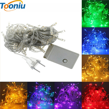 10M 100 LED Operated LED String Lights for Xmas Garland Party Wedding Decoration Christmas Flasher Fairy Lights On Sale(China)