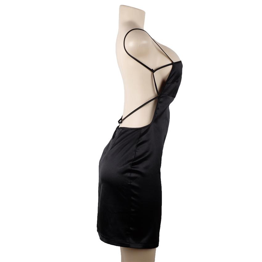 HTB1nPhOPVXXXXXraXXXq6xXFXXXG - FREE SHIPPING Women Sexy Strapless Backless Satin Summer Dress JKP275