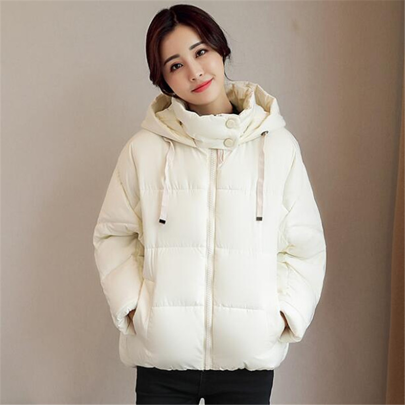 Warm Short Fashion Hooded Solid Color Cotton Winter Jacket WomenLoose Padded Parka Autumn Jacket Women Basic Coats TT3392 2017 new parkas jacket women autumn winter short coats solid hooded cotton padded warm pockets female jacket women s coats