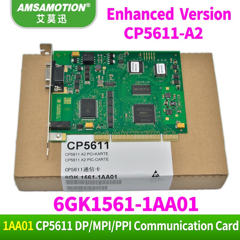 Amsamotion CP5611-A2 Communication Card 6GK1561-1AA01 Profibus DP CP5611 Communication Card 6GK15611AA01 new original dvppf02 sl plc profibus dp slave communication module