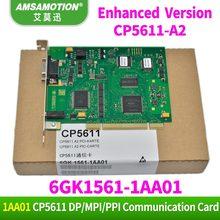 Amsamotion CP5611 A2 placa de comunicação 6gk1561 1aa01 profibus 6gk15611aa01 dp cp5611 adequado siemens profibus/mpi pci cartão