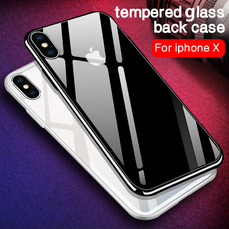 iiozo luxury tempered glass phone case for iphone x anti scratch high transparency full glass back cover for iphone x 10 in fitted cases from cellphones
