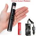Green Laser Portable 303 10000mw Laser Pointer Pen light burning laser Adjustable Focus 4000MAH 18650 Battery + Car charger