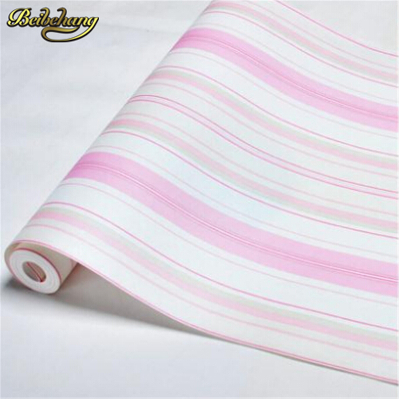 beibehang papel de parede. Boys wallpaper blue/pink non-woven wall paper kids classic stripe wall paper child for living room boys girls wallpaper roll blue pink non woven wall paper kids wallpaper classic stripe wall paper child for living room w206