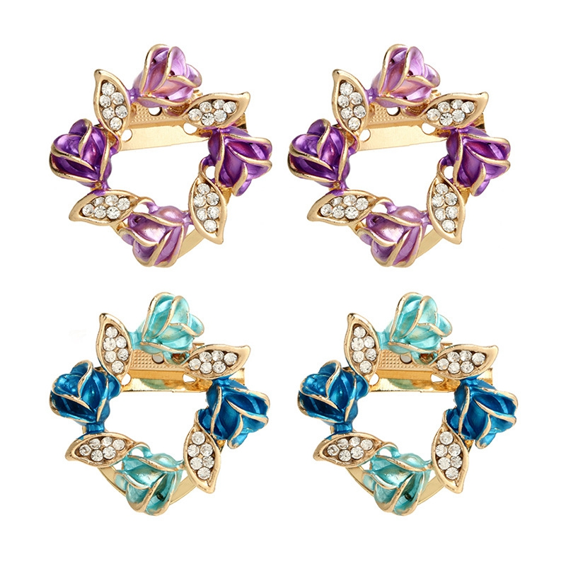MISANANRYNE Nice Shipping Pink Purple Crystal CZ Brooches Beautiful Fashion Blue Gold-color Jewelry for Women Ladies Party Gifts