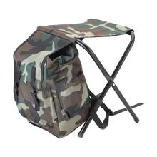 Outdoor Mountaineering Fishing Foldable Carry Stool Chair with Storage Bag