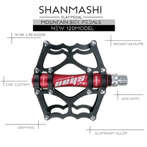 Image 3 - 2019 neue MTB mountainbike pedale Aluminium legierung CNC bike fußstütze großen flachen ultraleicht radfahren BMX pedal