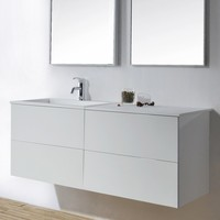 1200mm Bathroom Wall Mounted Vanity Blum Soft Close Top Solid Surface Washbasin Cloakroom Wall Hung Cabinet 2114