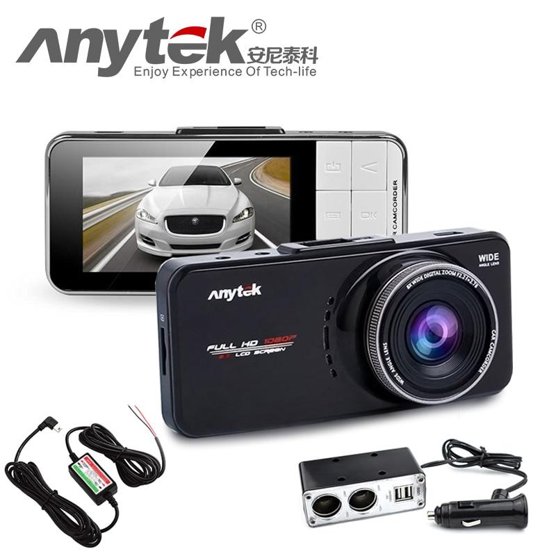 imágenes para Original AT66A Anytek full HD Novatek 96650 Coches DVR Cámara Grabadora Cuadro negro Lente de 170 Grados 6G Cena Visión Nocturna Dash Cam