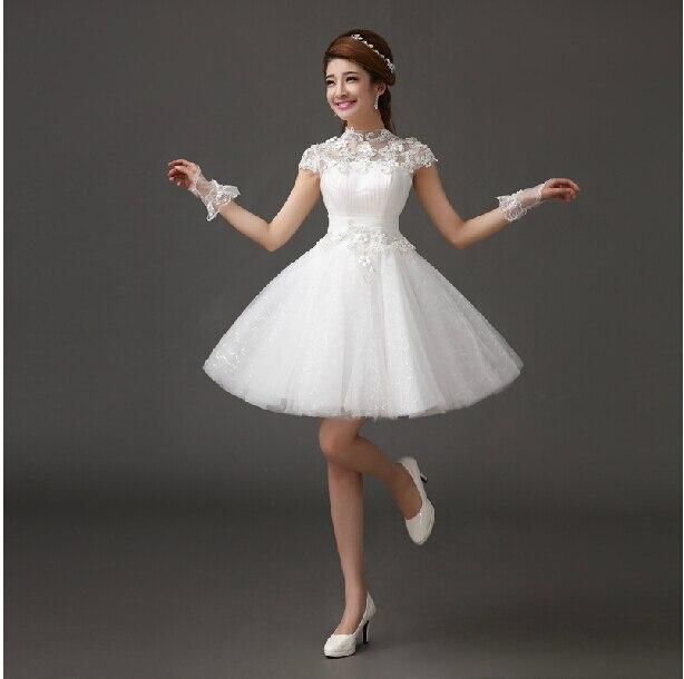 Vestido blanco corto y largo